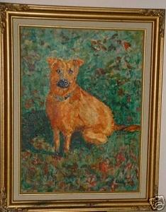Dog Painting - Lucy by Ladonna Idell