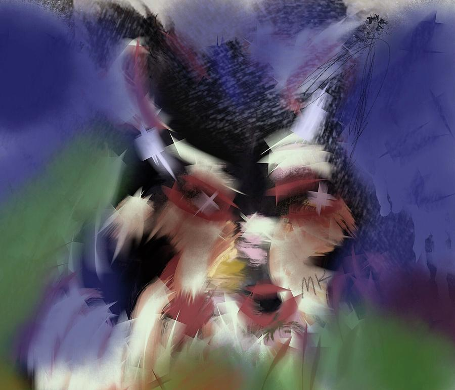 Dog Digital Art - Lucy by Mary Jo Hopton