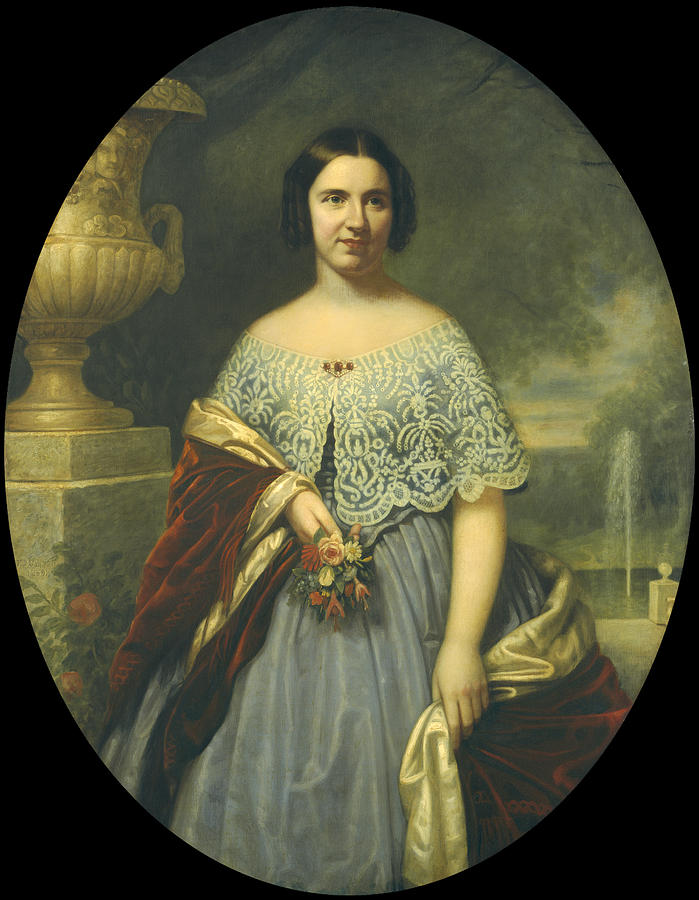 Francis Bicknell Carpenter Painting - Lucy Tappan Bowen. Mrs Henry C Bowen by Francis Bicknell Carpenter