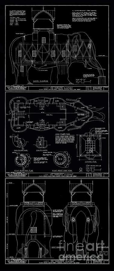 Lucy the elephant building patent blueprint 3 digital art by edward lucy digital art lucy the elephant building patent blueprint 3 by edward fielding malvernweather Choice Image