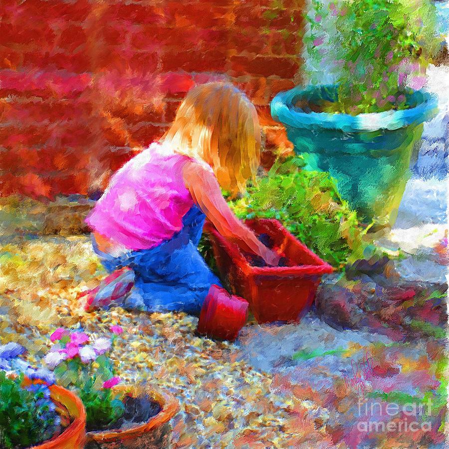 English Mixed Media - Lucys English Garden by Marilyn Sholin