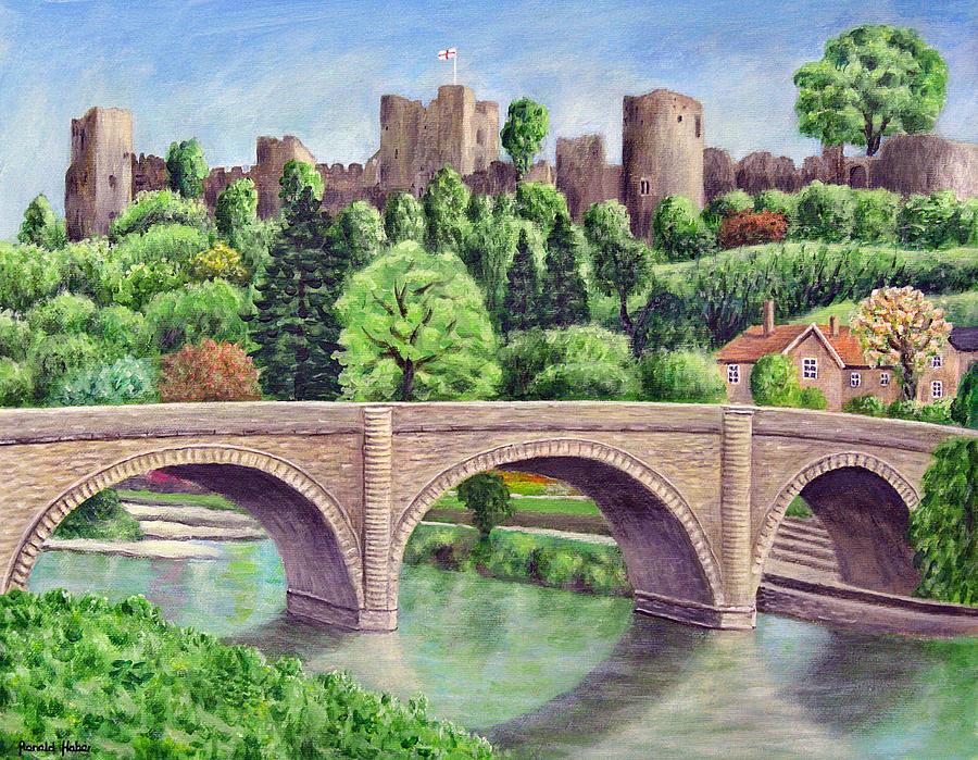 Ludlow Castle Painting - Ludlow Castle by Ronald Haber