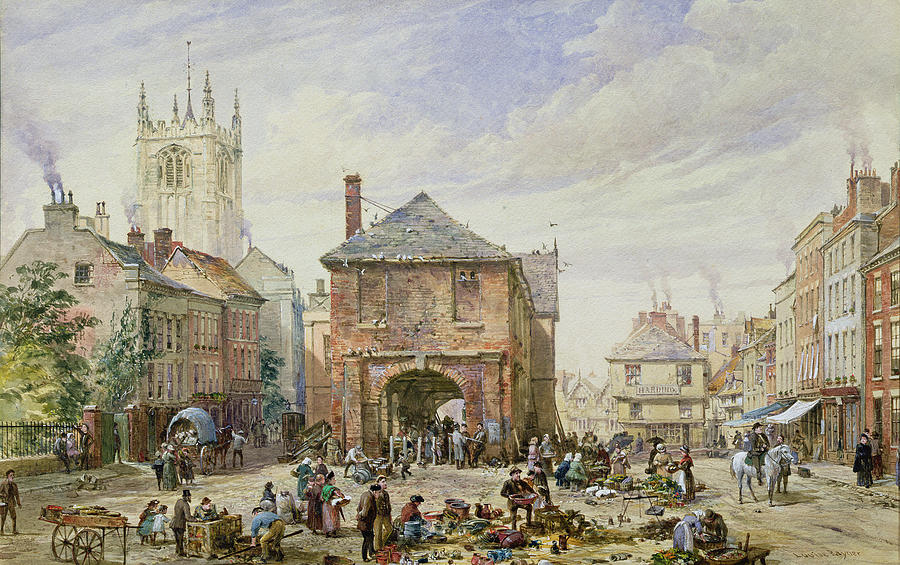 Ludlow Painting - Ludlow by Louise J Rayner