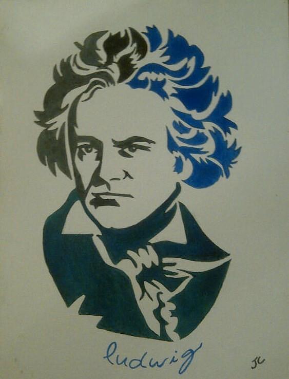 Music Painting - Ludwig Van Beethoven by John Cunnane