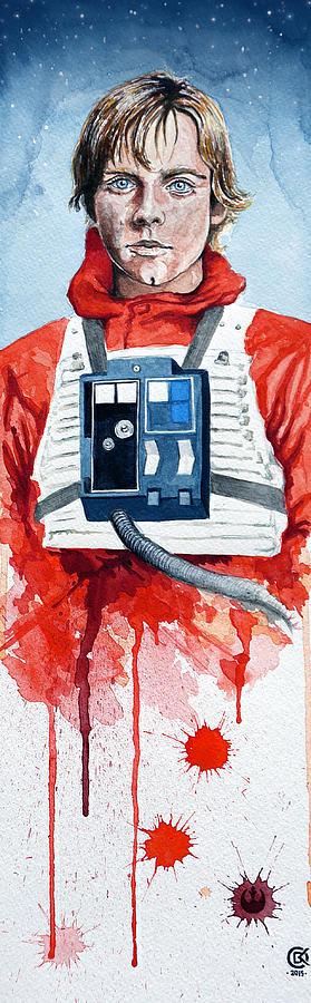 Star Wars Painting - Luke by David Kraig