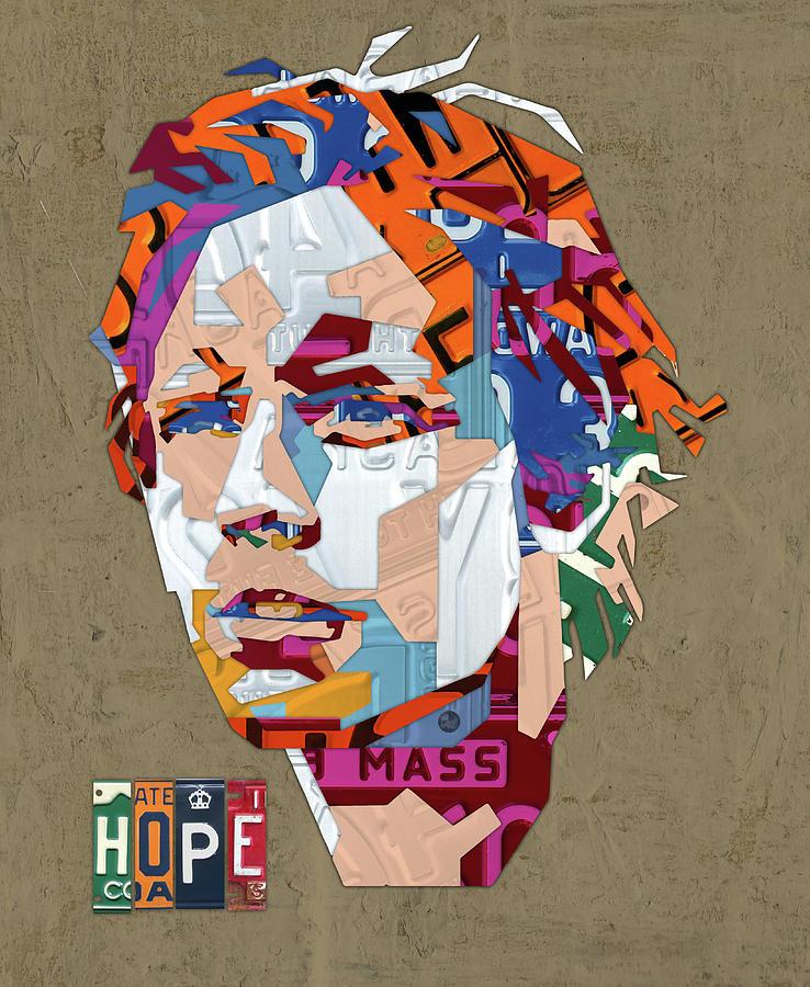 Luke Skywalker Mixed Media - Luke Skywalker Hope Star Wars License Plate Art Portrait by Design Turnpike