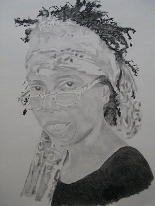 Dance Drawing - Lula Washington by B Jaxon