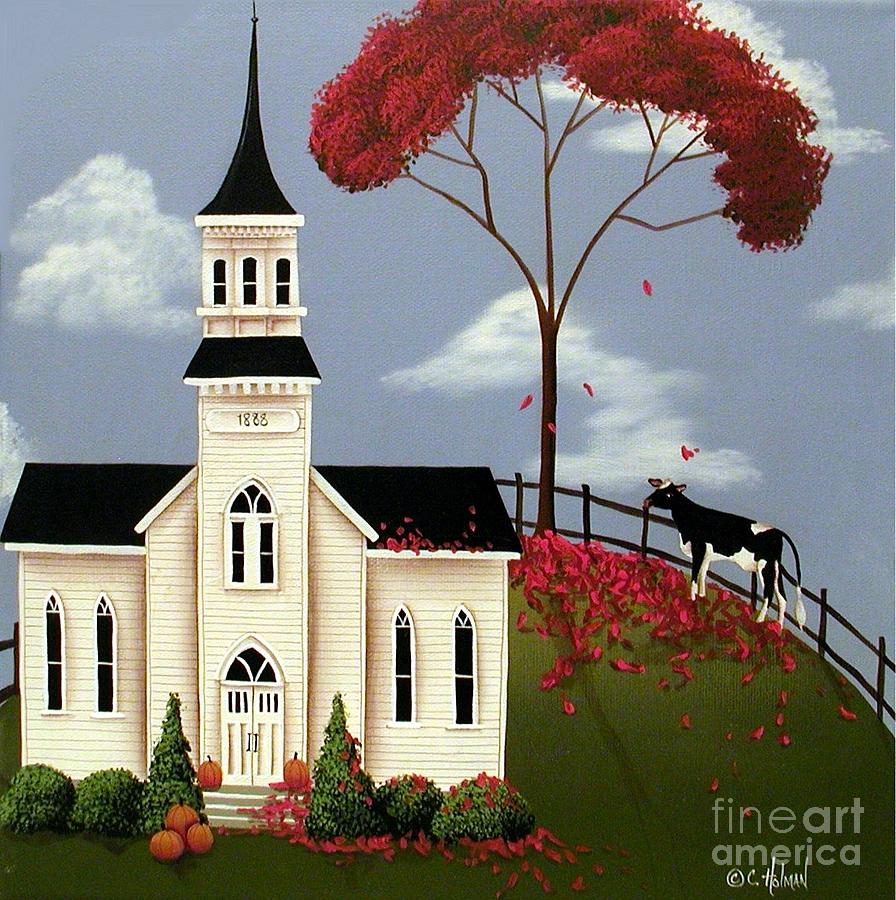 Print Painting - Lulabelle Goes To Church by Catherine Holman