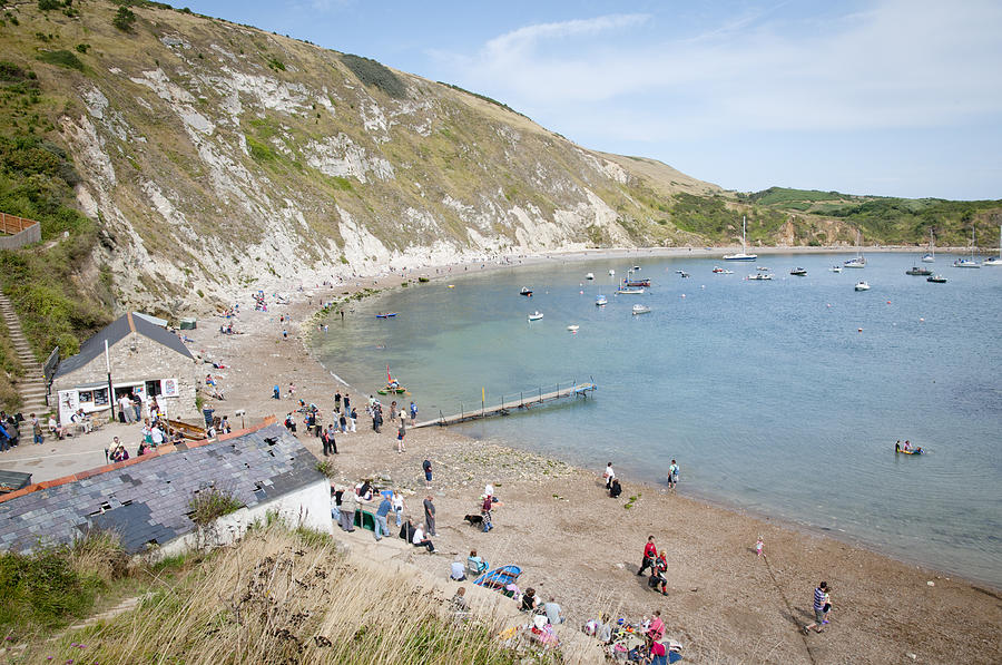 Lulworth Cove Photograph - Lulworth Cove Dorset Uk by Andy Smy