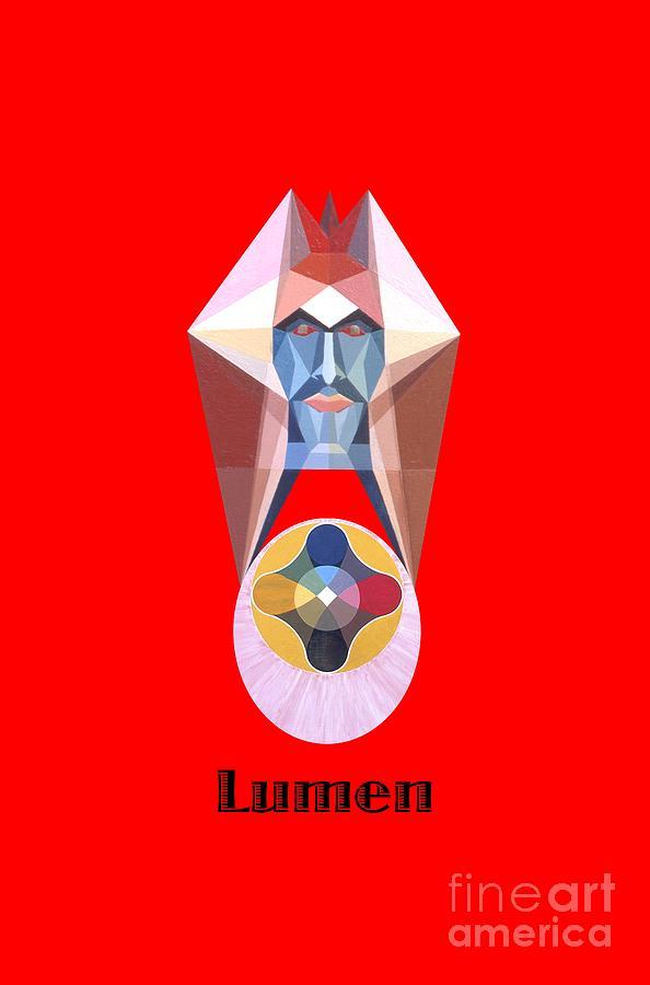 Tarot Painting - Lumen text by Michael Bellon