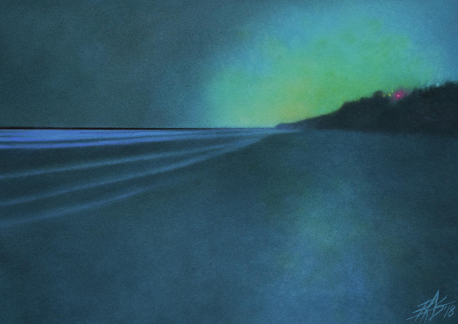 Landscape Painting - Luminescence at Torrey Pines II by Robin Street-Morris