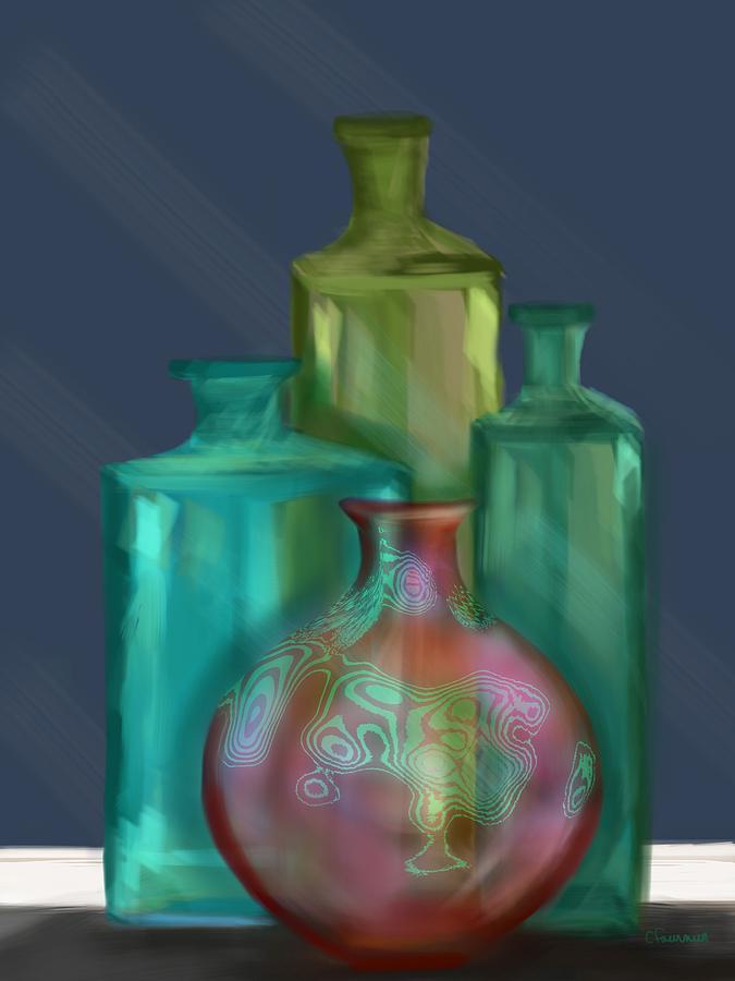 Luminescent bottles by Christine Fournier