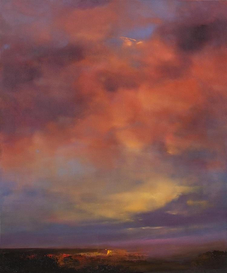 Landscape Painting - Luminous Awakening by Albert Scharf