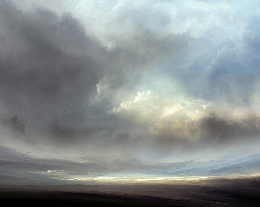 Atmosphere Mixed Media - Luminous Landscape by Lonnie Christopher
