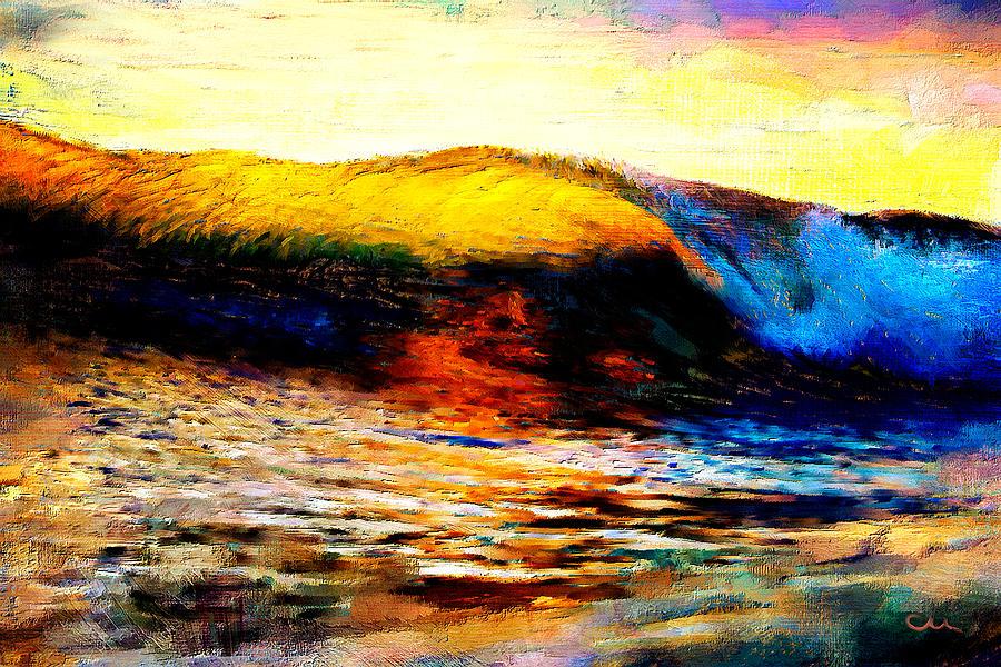Luminous Wave Painting