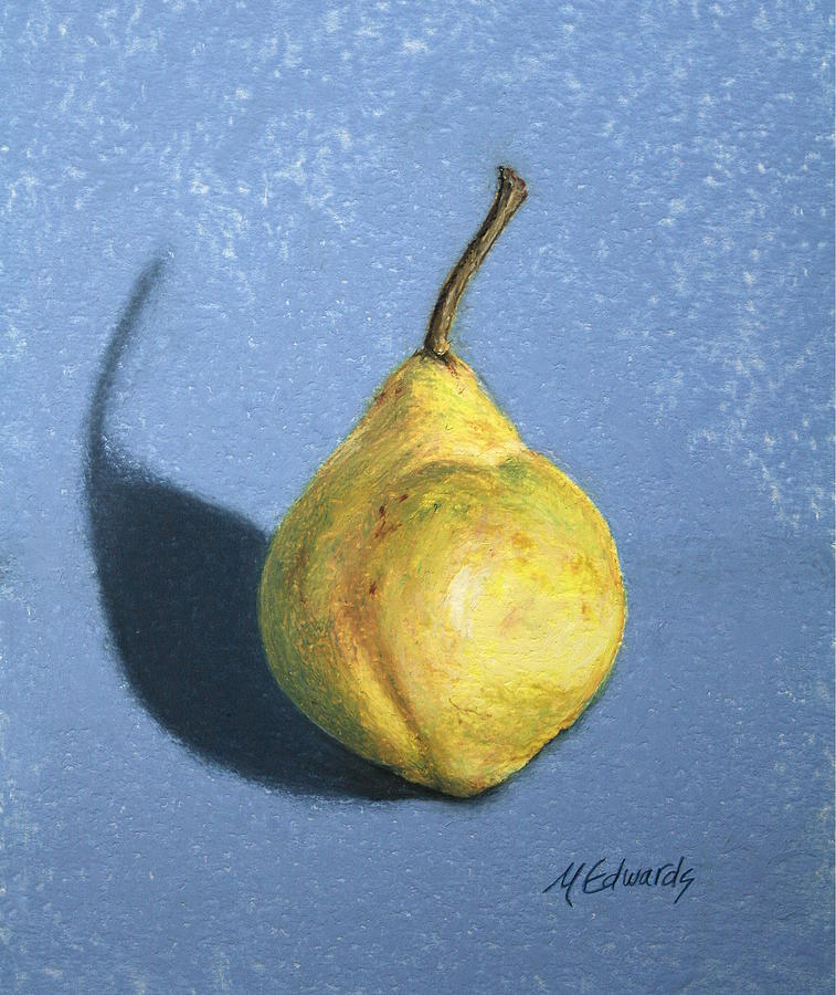 Lumpy Painting - Lumpy Pear by Marna Edwards Flavell
