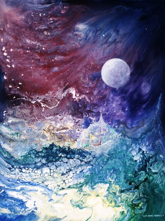 Spiritual Painting - Luna Chrysalis by Lee Pantas