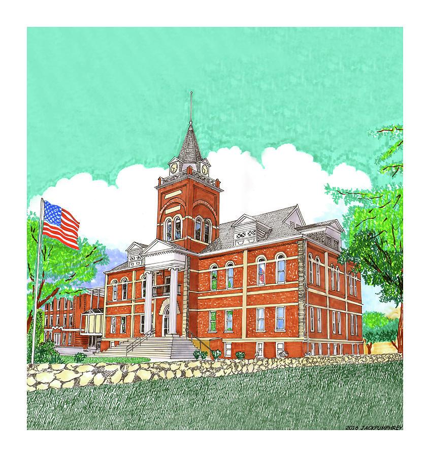 Blocks Painting - Luna County Court House  Deming  N M   by Jack Pumphrey
