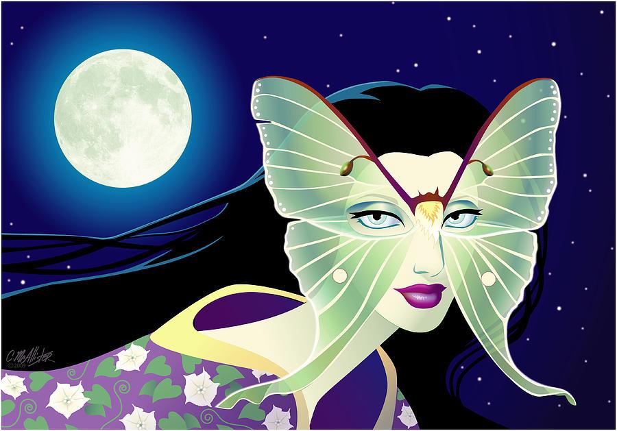 Butterfly Digital Art - Luna by Cristina McAllister