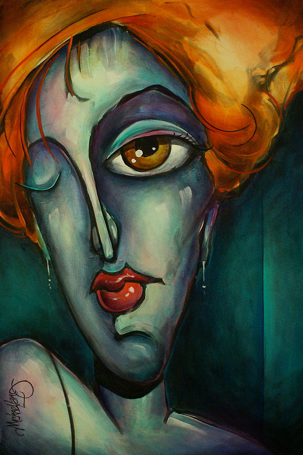 Expression Painting - Luna by Michael Lang