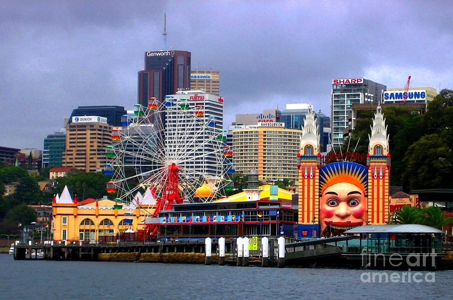 Landscape Photograph - Luna Park Sydney Australia by Freda Sbordoni