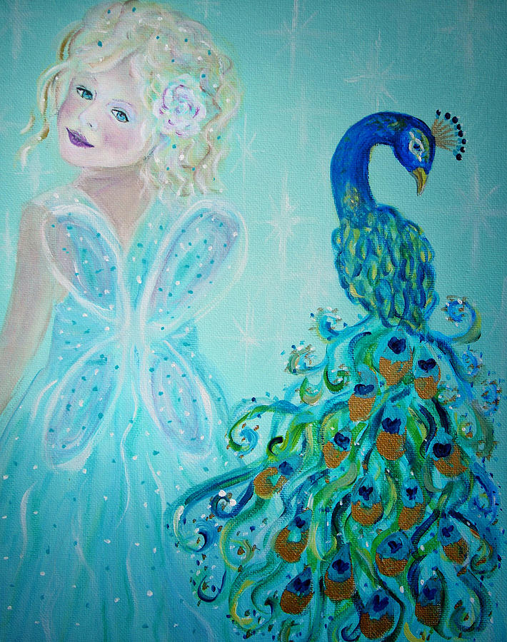 Peacock Painting - Luna Shows Her Feathers by The Art With A Heart By Charlotte Phillips