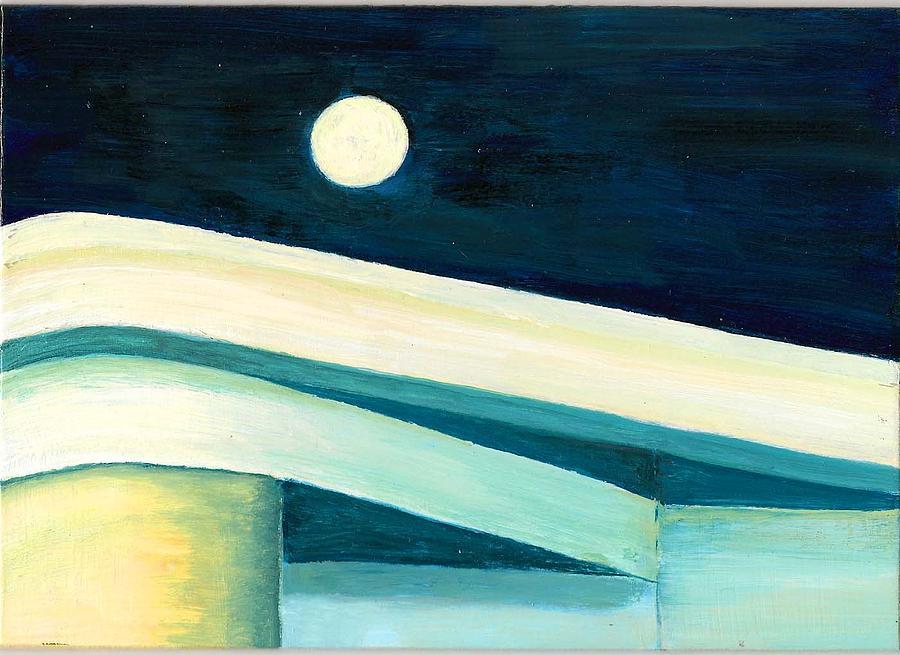 Architecture Painting - Luna Sobre Casa Blanca by Susan Macdonald
