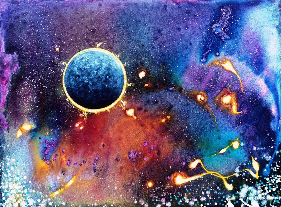 Spiritual Painting - Luna Violet by Lee Pantas