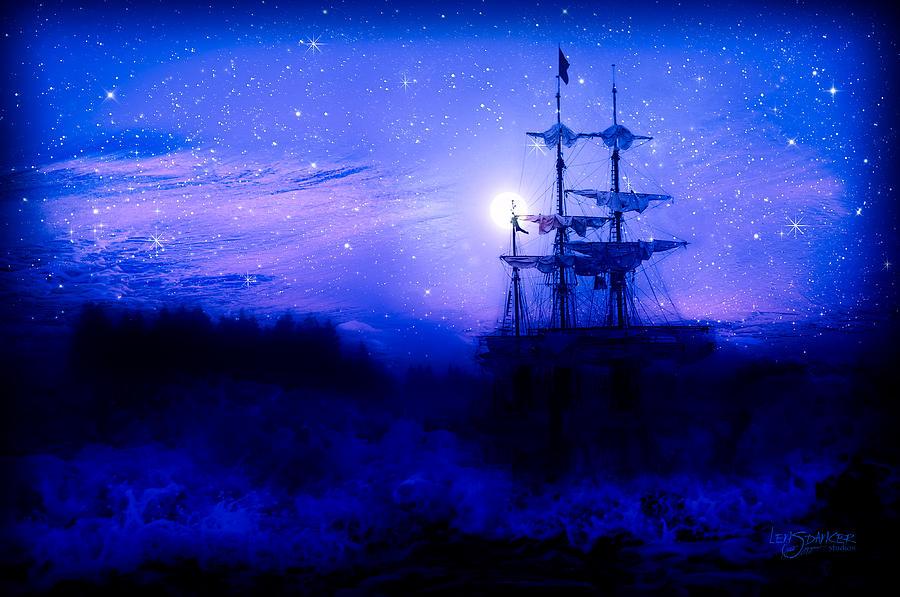 Tall Ship Photograph - Lunar Aberration by Joy Gerow