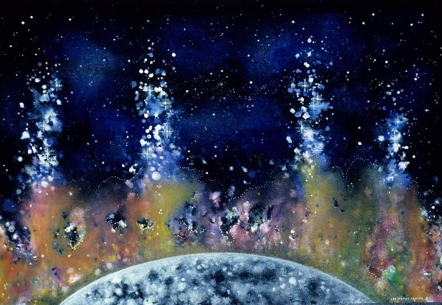 Spiritual Painting - Lunar Genesis by Lee Pantas