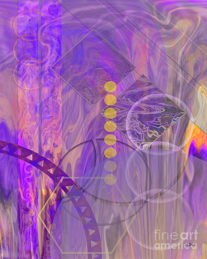 Lunar Digital Art - Lunar Impressions 3 by John Beck