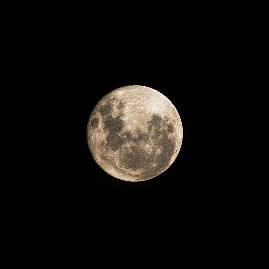 Lunar Photograph - Lunar Perigee by Andrew Paranavitana
