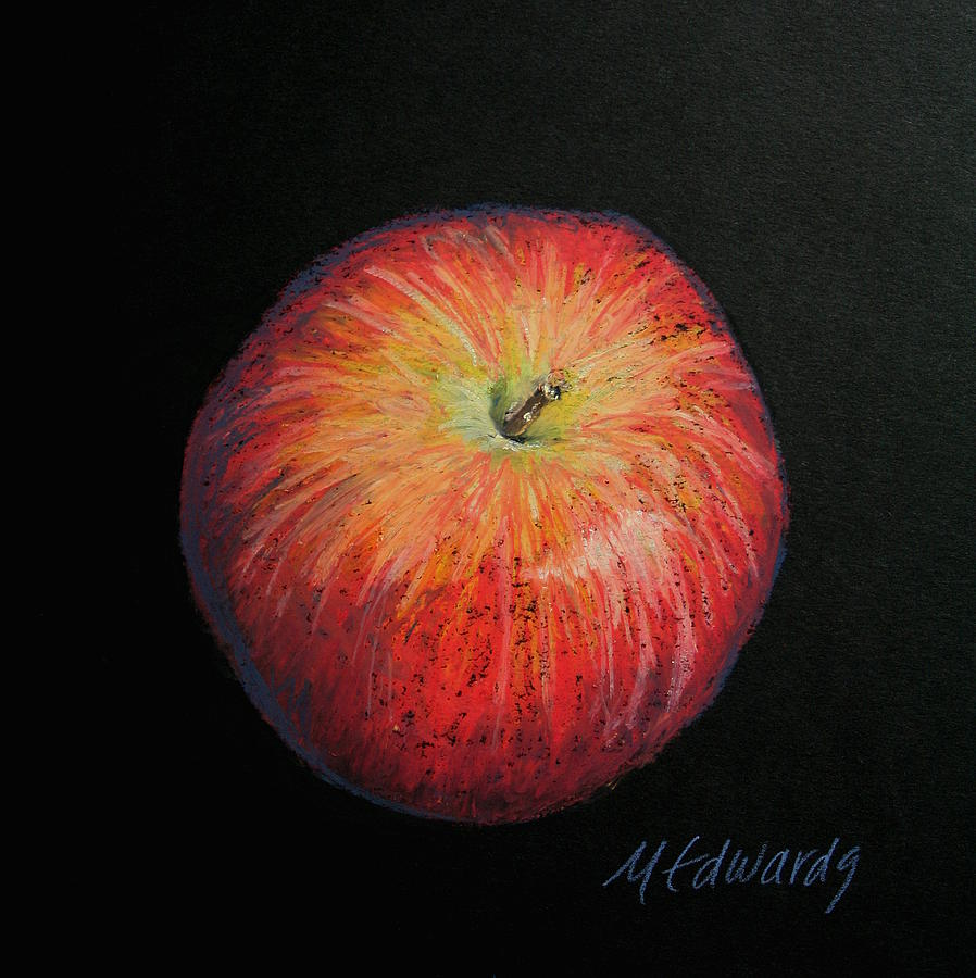 Lunch Painting - Lunch Apple by Marna Edwards Flavell
