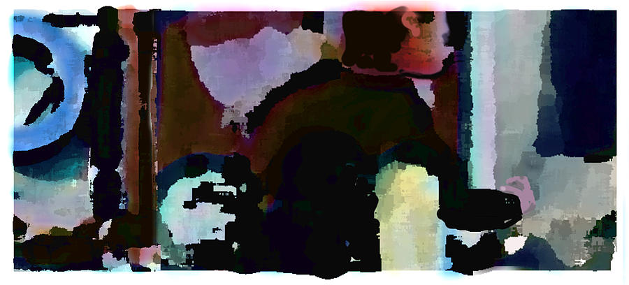 Abstract Expressionism Painting - Lunch counter by Steve Karol