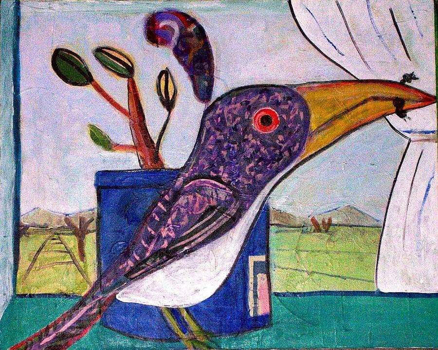 Bird Mixed Media - Lunch by Dave Kwinter