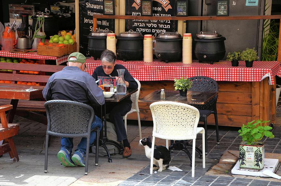 Lunch in Center City Jerusalem by Alex Vishnevsky