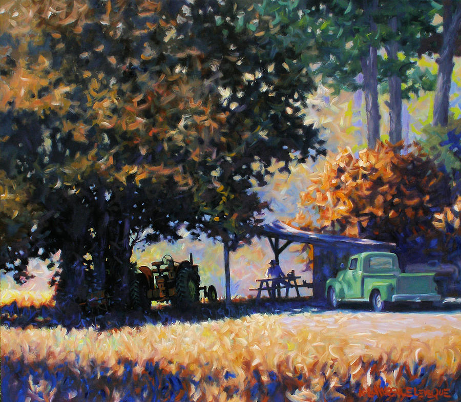 Rural Painting - Lunch by Kevin Lawrence Leveque