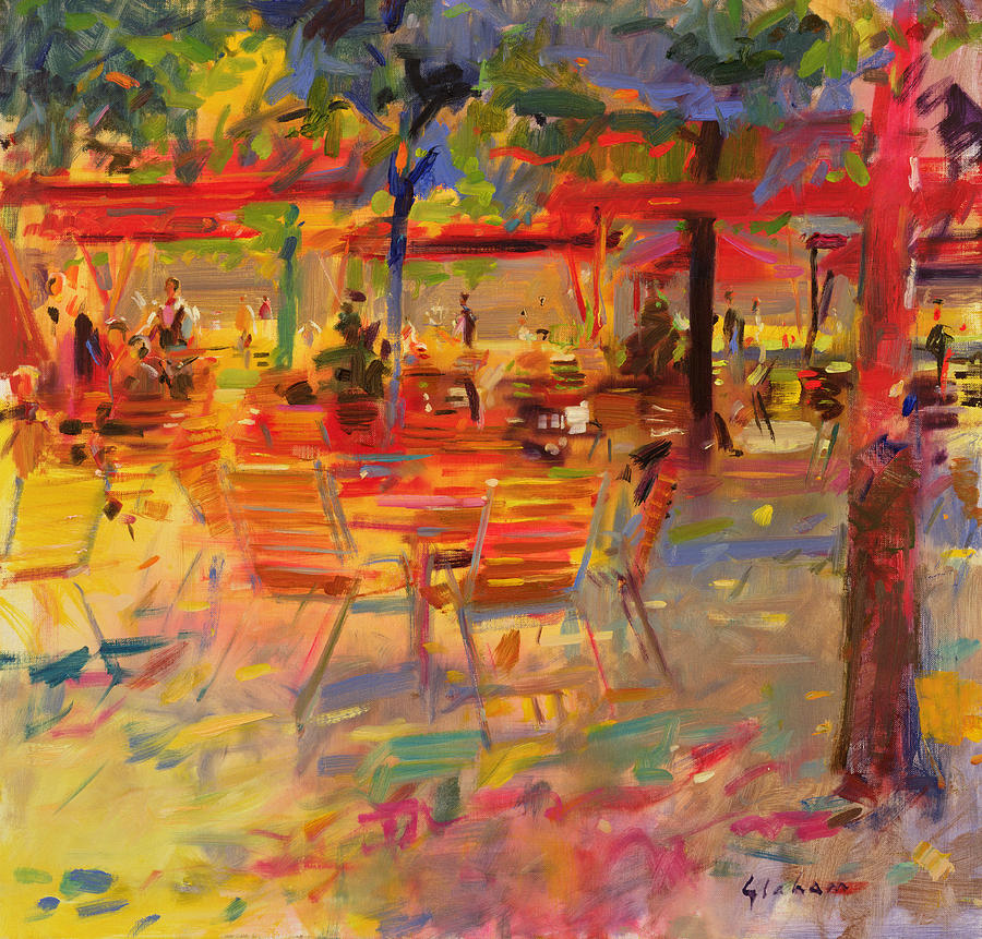 Al Fresco Painting - Lunch On The Terrace by Peter Graham