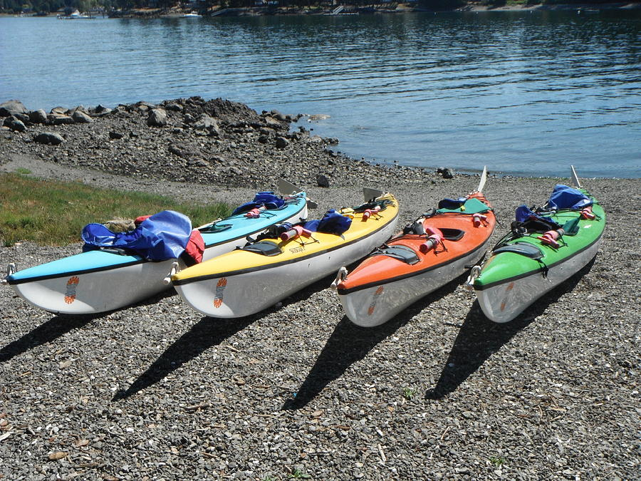 Kayak Digital Art - Lunch Time by Verilux Photography