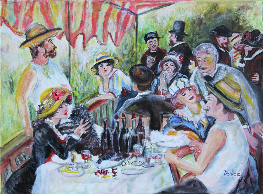Renoir Painting - Luncheon Of The Boating Party by Denice Palanuk Wilson