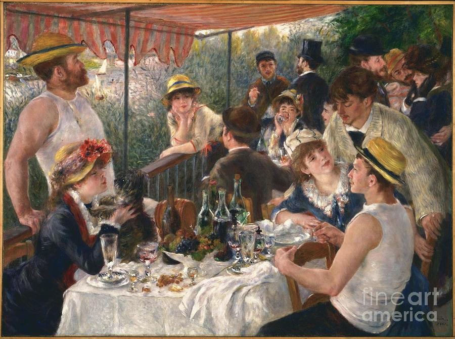 Party Painting - Luncheon Of The Boating Party by MotionAge Designs