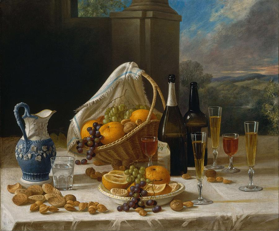 Nature Painting - Luncheon Still Life, At And By John F. Francis by John F Francis