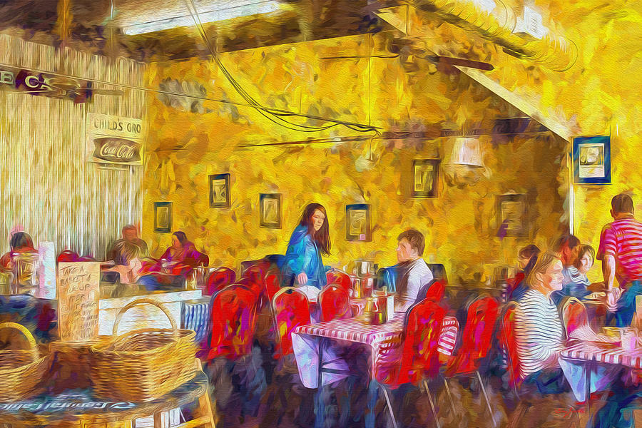 Lunchtime Painting - Lunchtime - Country Cafe by Barry Jones