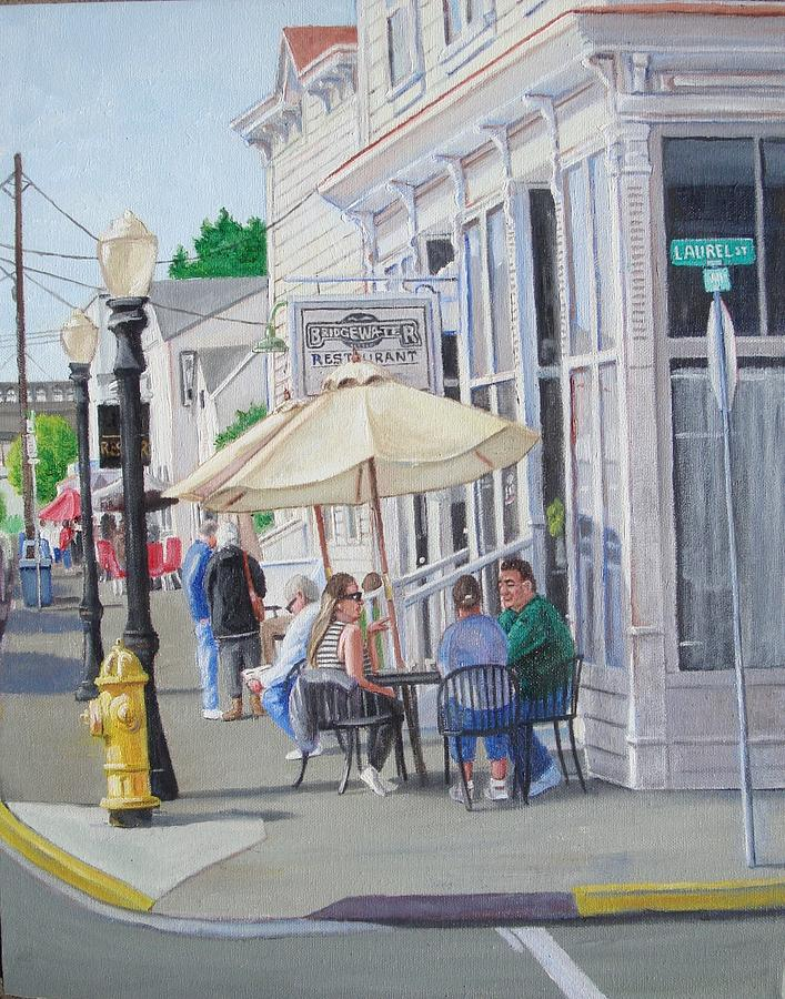 Florence Painting - Lunchtime In Florence, Or by Ron Bendorff