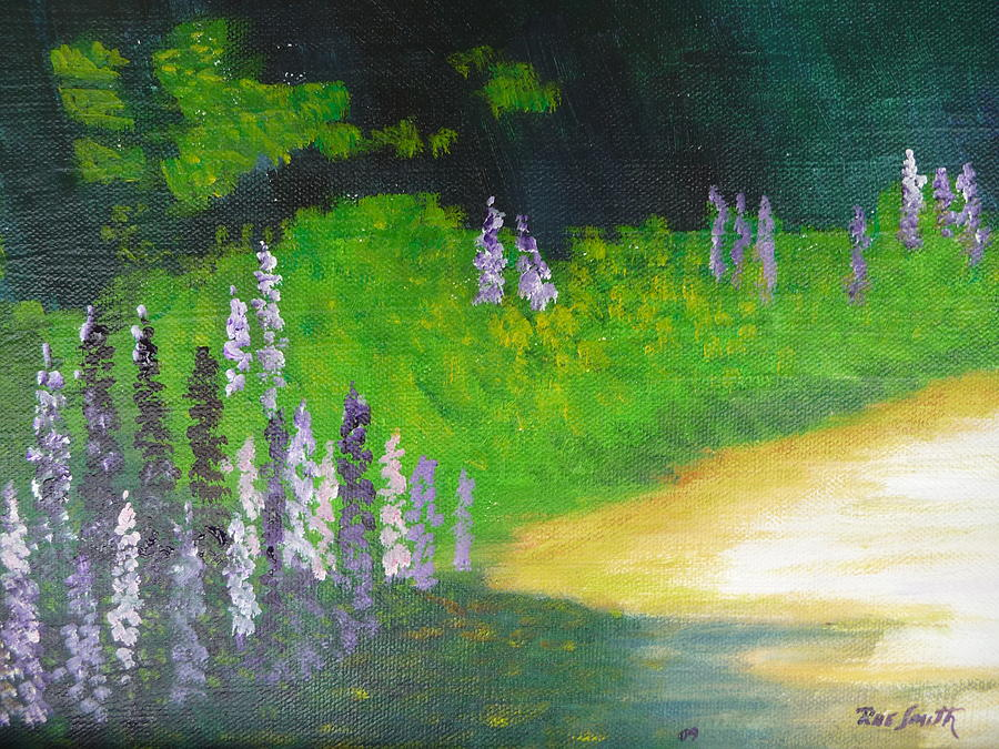 Flowers Painting - Lupens On Buccaneer Road by Rae  Smith