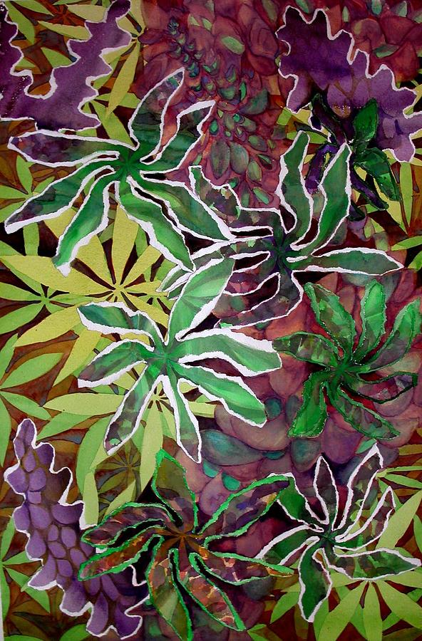 Flowers Mixed Media - Lupines by Joanne Osband
