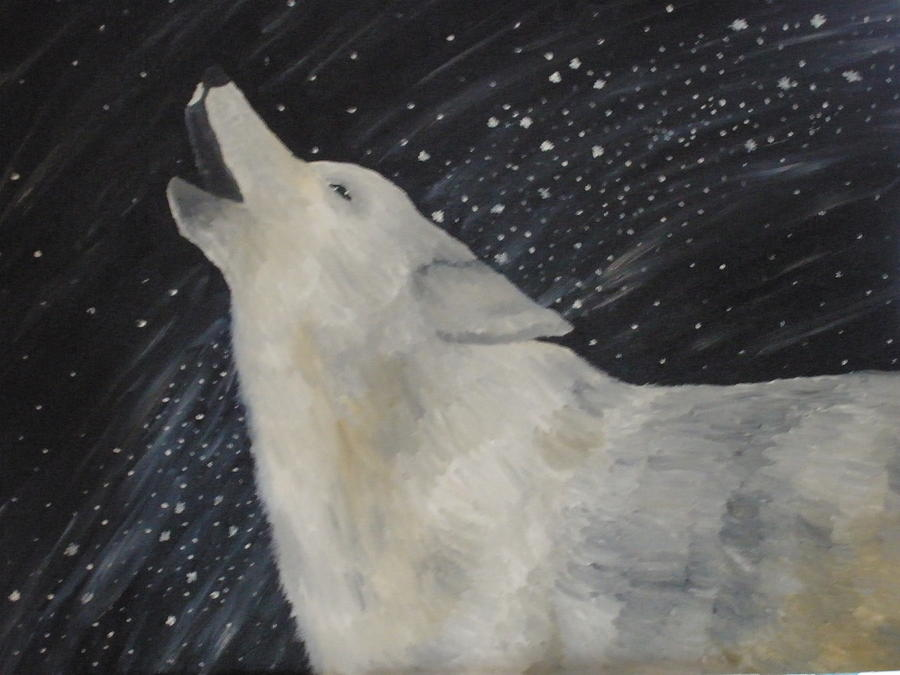 Wolf Painting - Lupus by Krista Edwards