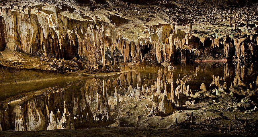 Luray Photograph - Luray Caverns - Virginia - Reflections At Dream Lake by Brendan Reals