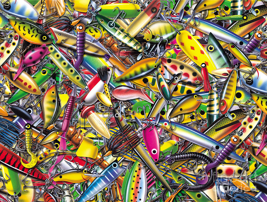 Lure Collage Painting ...