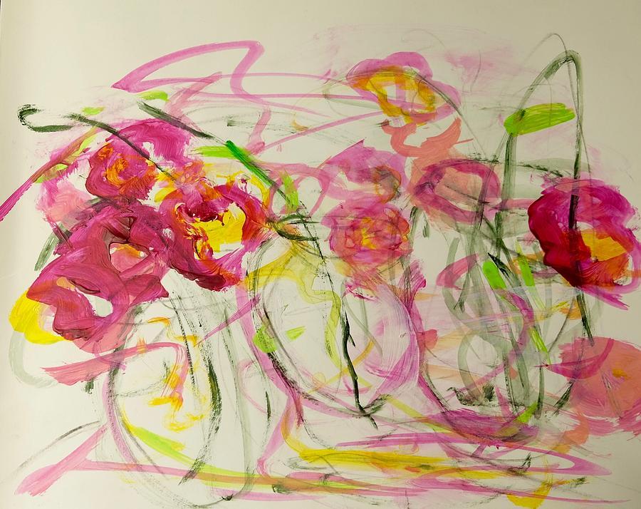 Flowers Painting - Lush Flowers by Barbara Rose Brooker